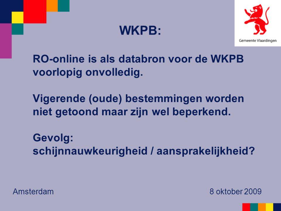 RO-online is als databron voor de WKPB voorlopig onvolledig.
