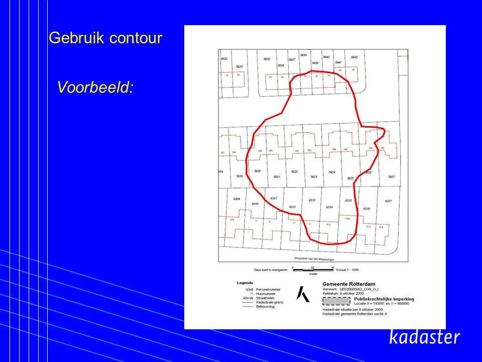 Gebruik contour Voorbeeld: