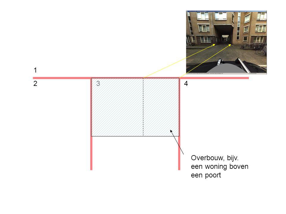 1 234 Overbouw, bijv. een woning boven een poort