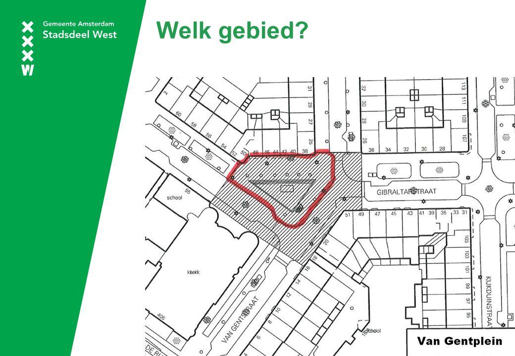 Doel Van Gentplein om trots op te zijn; Sociaal hart van de buurt; Sluit goed aan bij de omliggende voorzieningen; Netjes opgeknapt plein waar men plezierig kan verblijven, elkaar kan ontmoeten en kinderen veilig kunnen spelen.