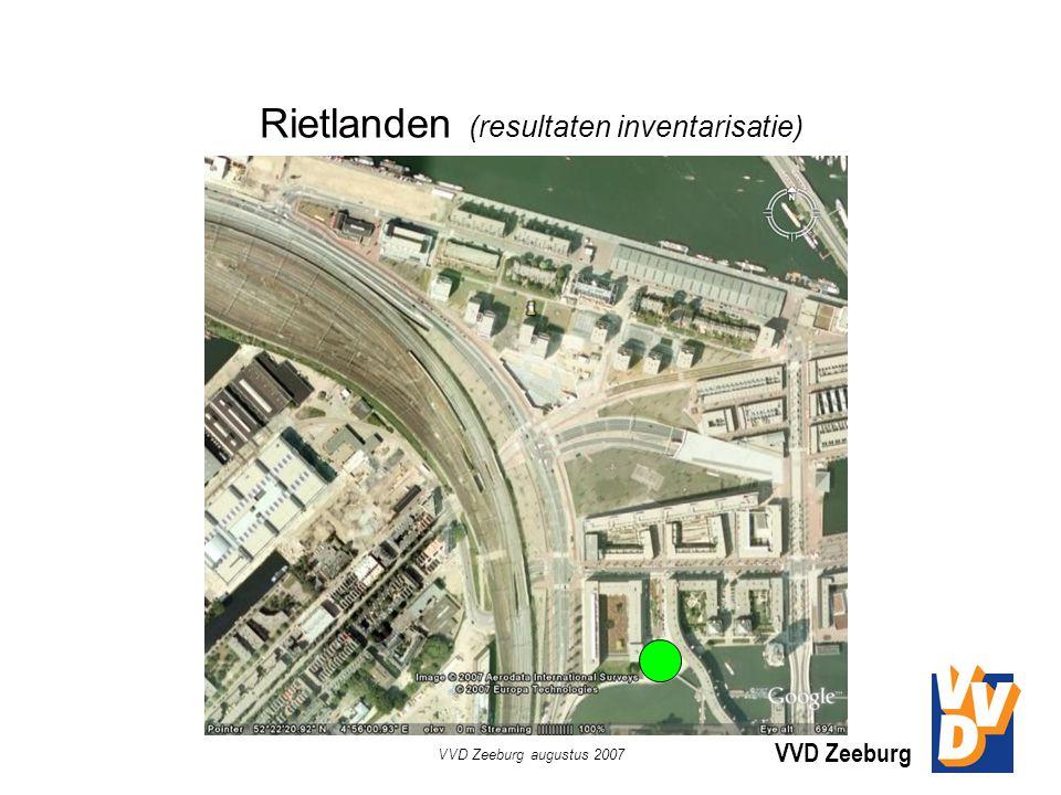 VVD Zeeburg VVD Zeeburg augustus 2007 Rietlanden (resultaten inventarisatie)