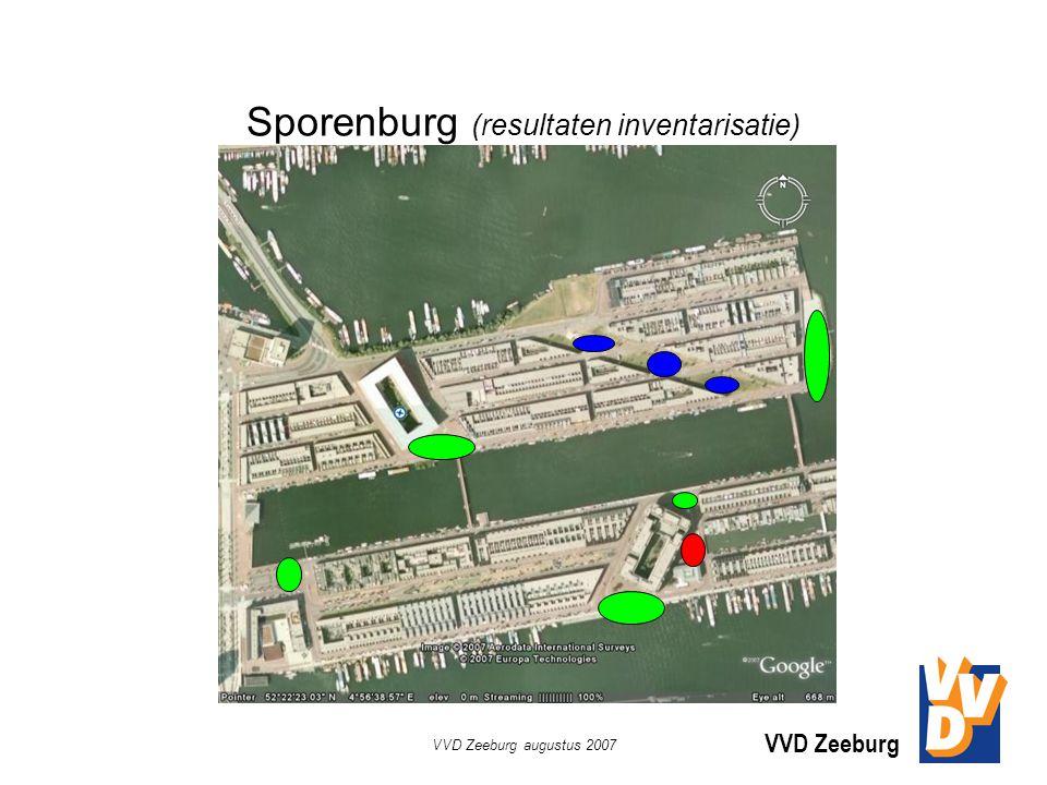 VVD Zeeburg VVD Zeeburg augustus 2007 Sporenburg (resultaten inventarisatie)