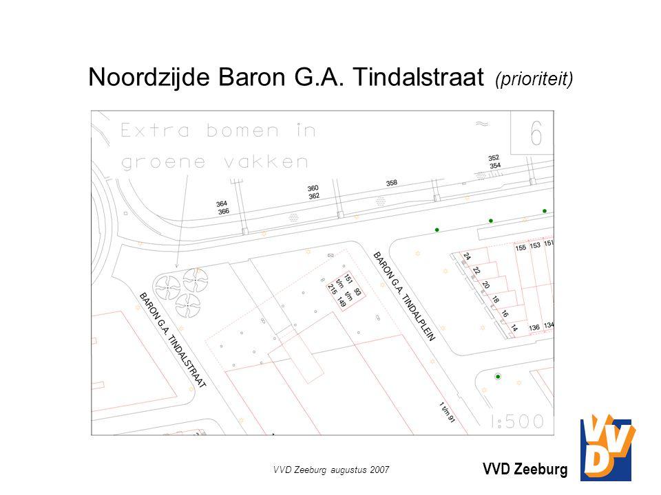 VVD Zeeburg VVD Zeeburg augustus 2007 Noordzijde Baron G.A. Tindalstraat (prioriteit)