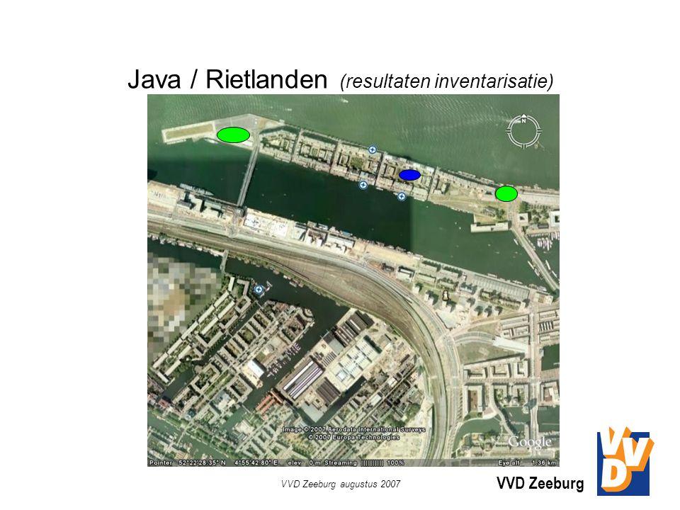 VVD Zeeburg VVD Zeeburg augustus 2007 Java / Rietlanden (resultaten inventarisatie)