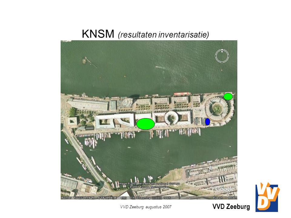 VVD Zeeburg VVD Zeeburg augustus 2007 KNSM (resultaten inventarisatie)