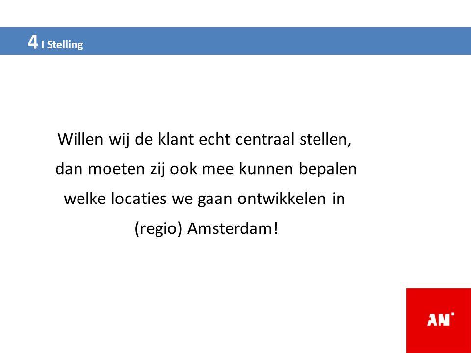 Willen wij de klant echt centraal stellen, dan moeten zij ook mee kunnen bepalen welke locaties we gaan ontwikkelen in (regio) Amsterdam!