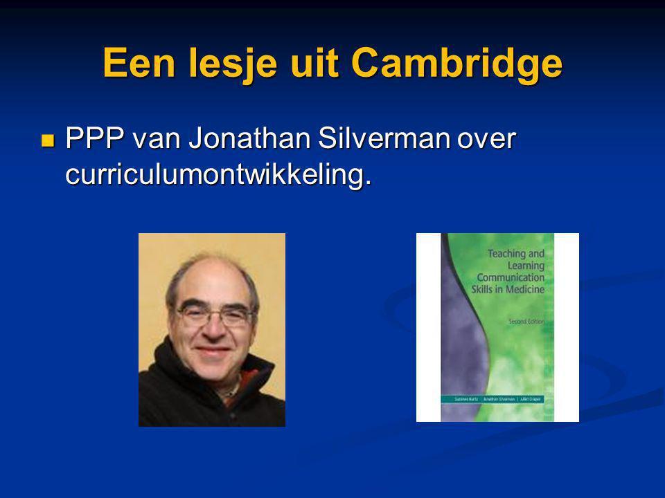 Een lesje uit Cambridge PPP van Jonathan Silverman over curriculumontwikkeling. PPP van Jonathan Silverman over curriculumontwikkeling.