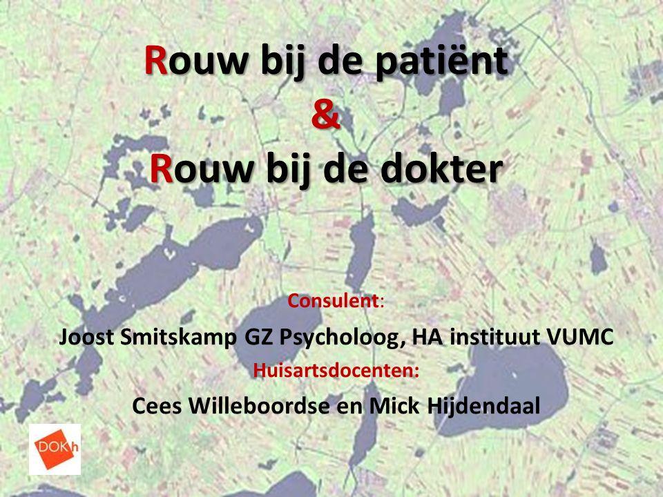 Rouw bij de patiënt & Rouw bij de dokter Consulent: Joost Smitskamp GZ Psycholoog, HA instituut VUMC Huisartsdocenten: Cees Willeboordse en Mick Hijde