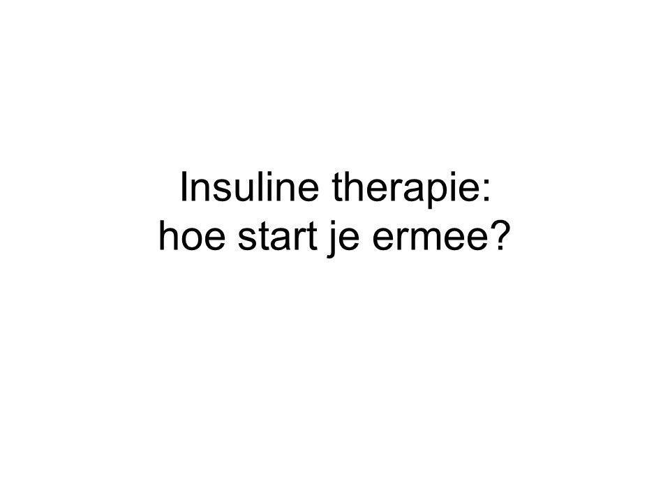 Insuline therapie: hoe start je ermee?
