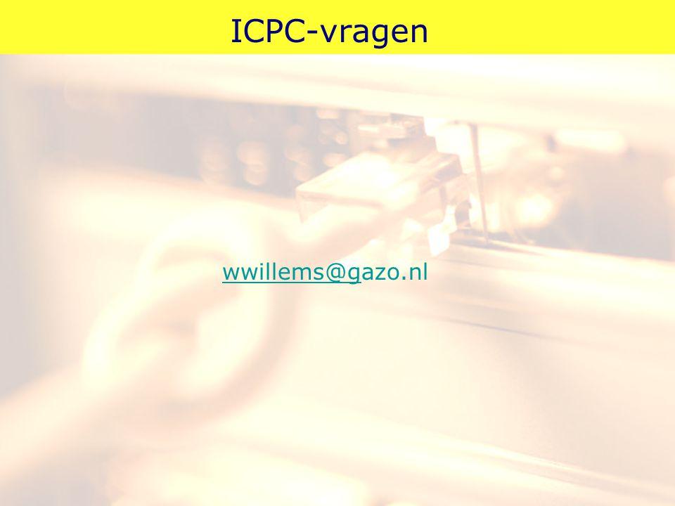 ICPC-vragen wwillems@gwwillems@gazo.nl
