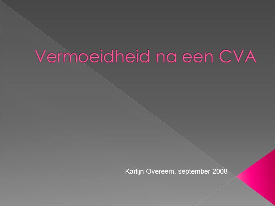  Dhr.S, '04: CVA li hemisfeer, hemiplegie re, afasie.
