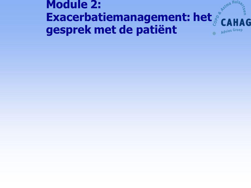 Module 2: Exacerbatiemanagement: het gesprek met de patiënt
