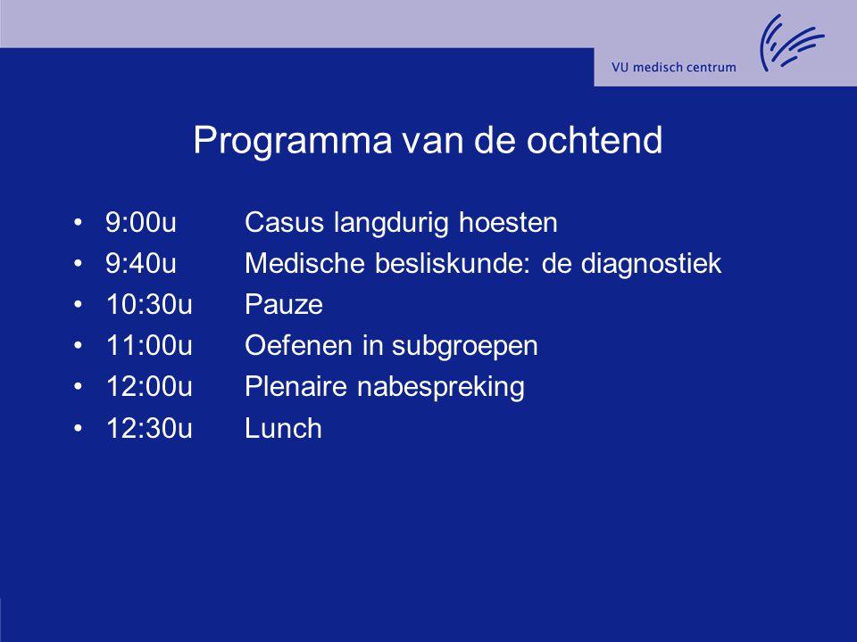 Diagnostisch klinisch redeneren Casus 'langdurig hoesten' Kennemer Meer dagen 31 maart 2012 Henk de Vries huisarts