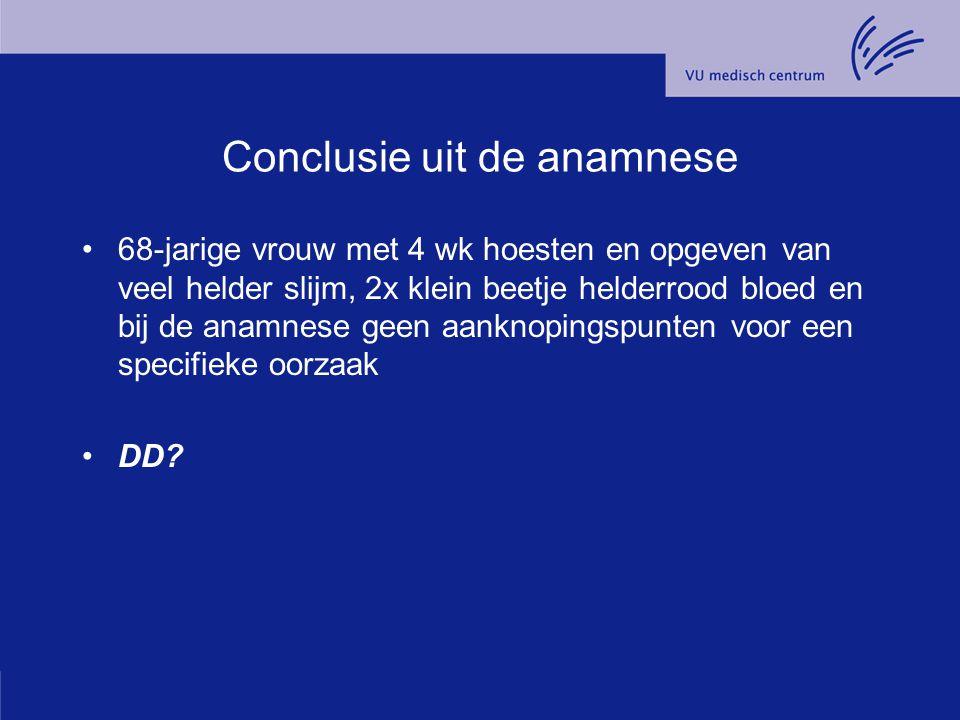 Conclusie Traag genezende atypische pneumonie Wat nu?