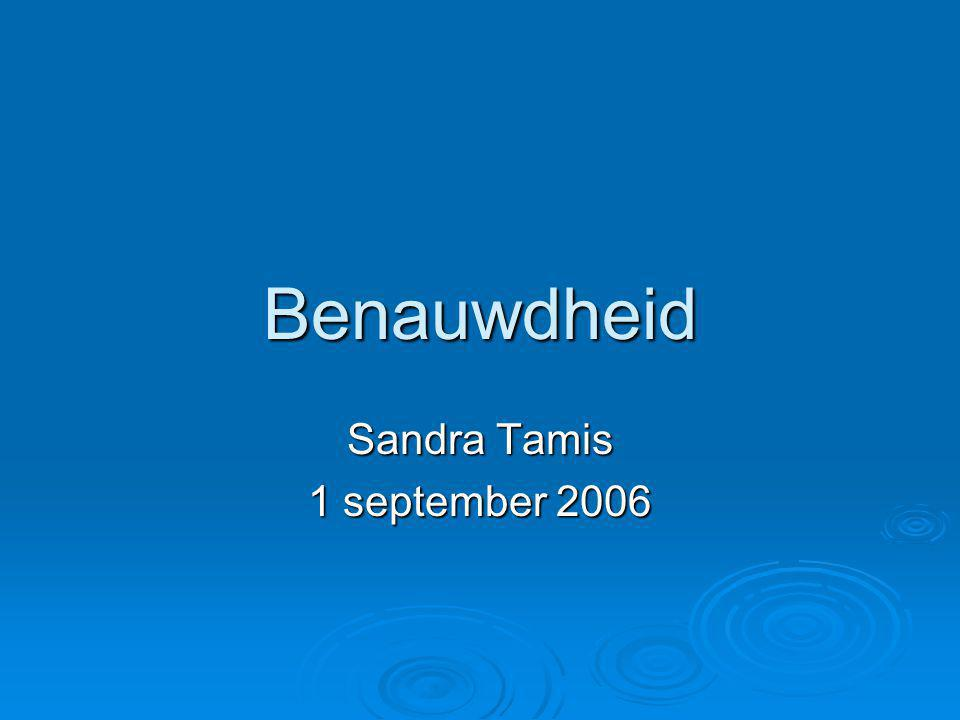Benauwdheid Sandra Tamis 1 september 2006