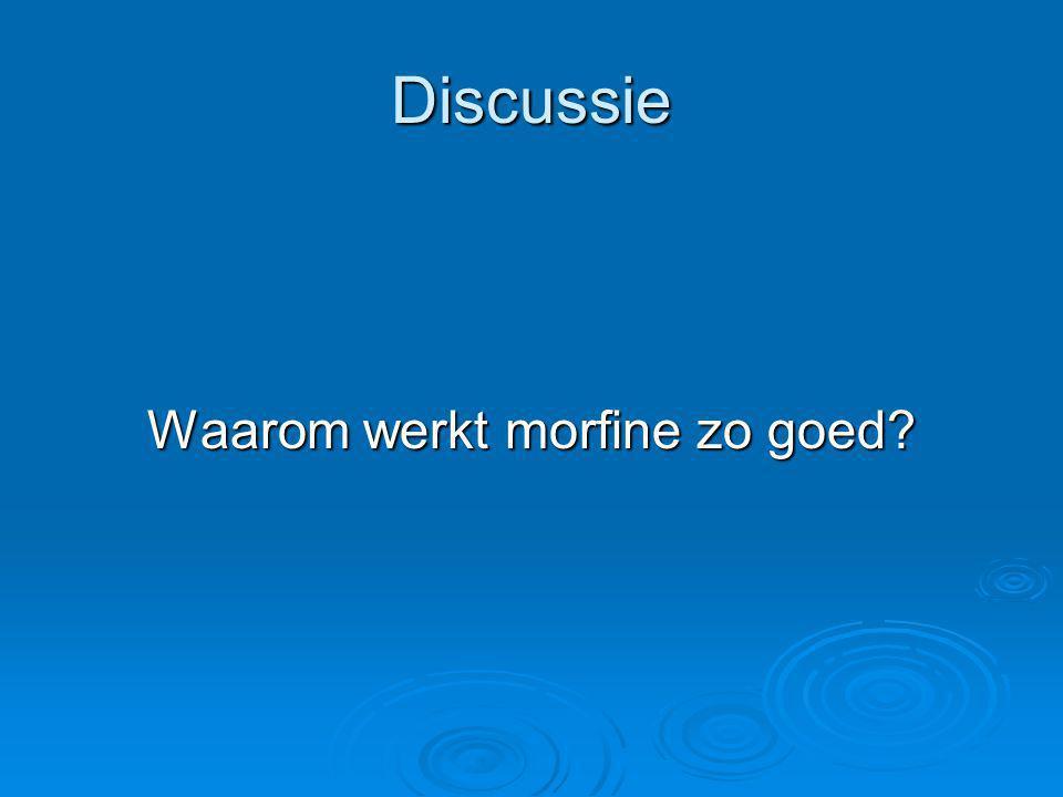 Discussie Waarom werkt morfine zo goed?