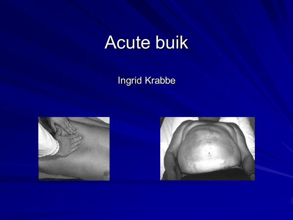 Buikpijn - algemeen Buikpijn is een van de meest voorkomende symptomen in de praktijk en in het ziekenhuis Schappert S, Vital Health Stat.