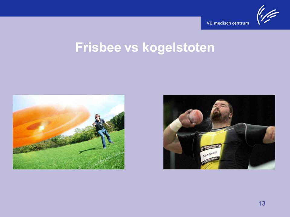 13 Frisbee vs kogelstoten