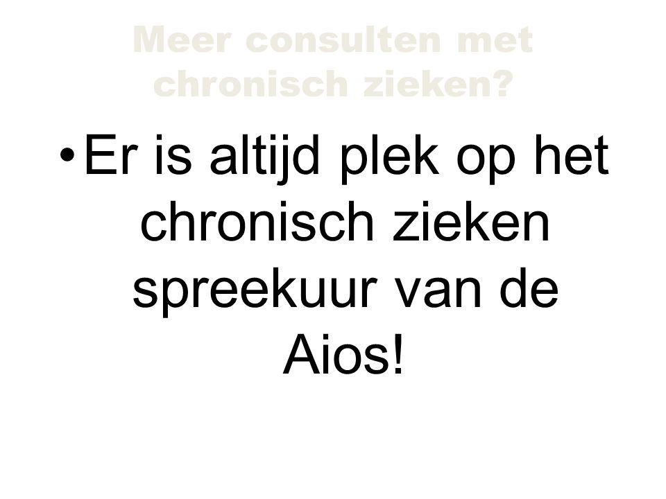 Er is altijd plek op het chronisch zieken spreekuur van de Aios!