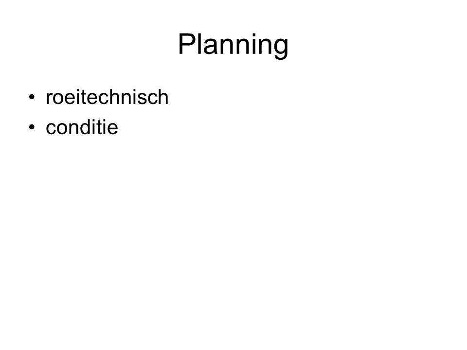 Planning roeitechnisch conditie