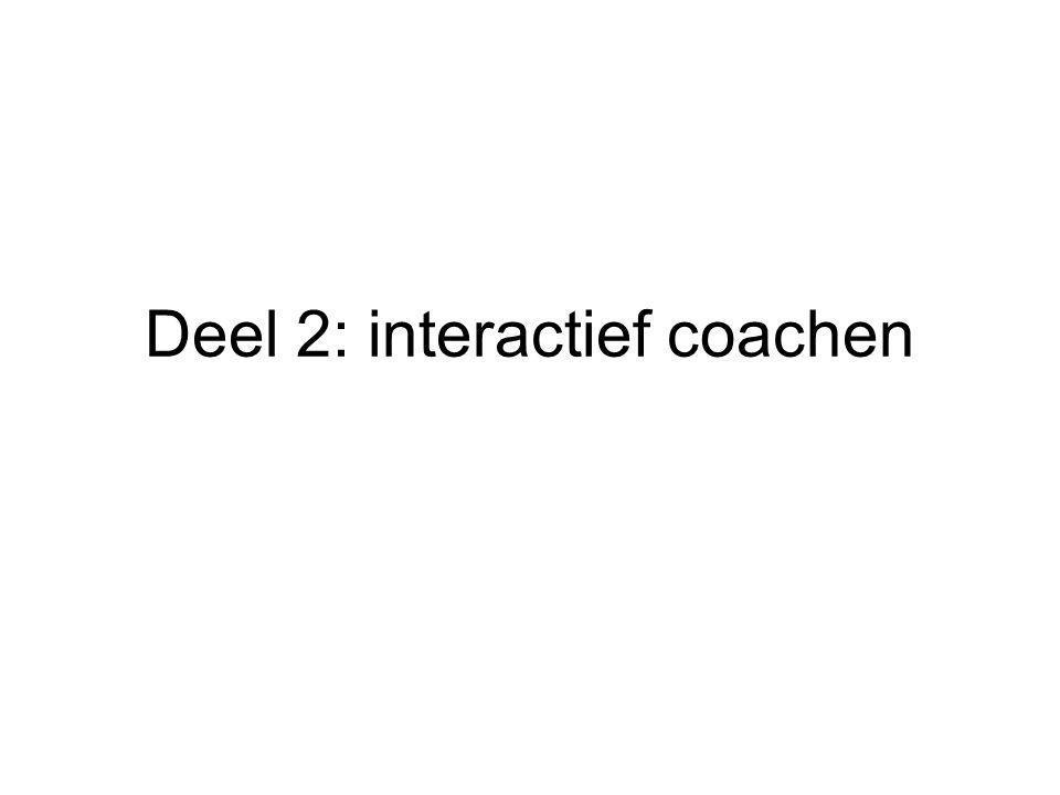 Deel 2: interactief coachen