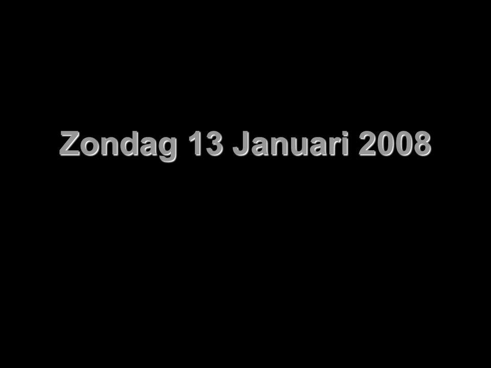 Zondag 13 Januari 2008