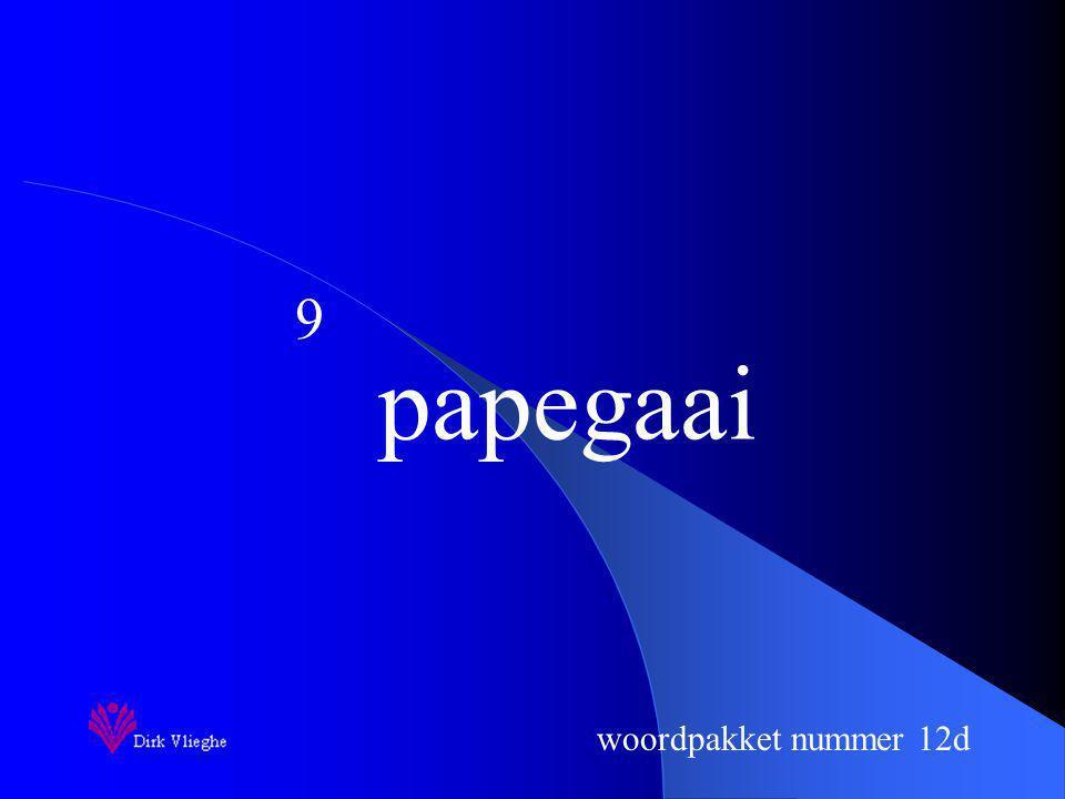 woordpakket nummer 12d Je schrijft nu het woord op.