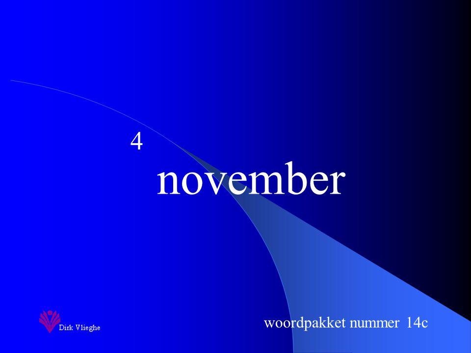 woordpakket nummer 14c november 4