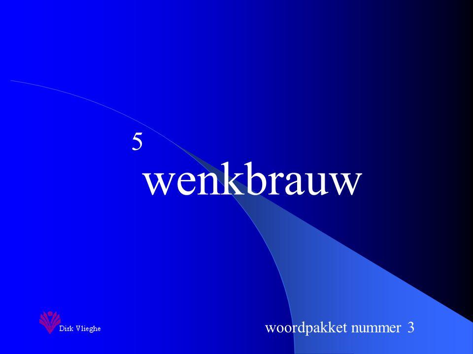woordpakket nummer 3 Je schrijft nu het woord op.
