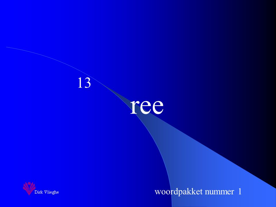 woordpakket nummer 1 ree 13