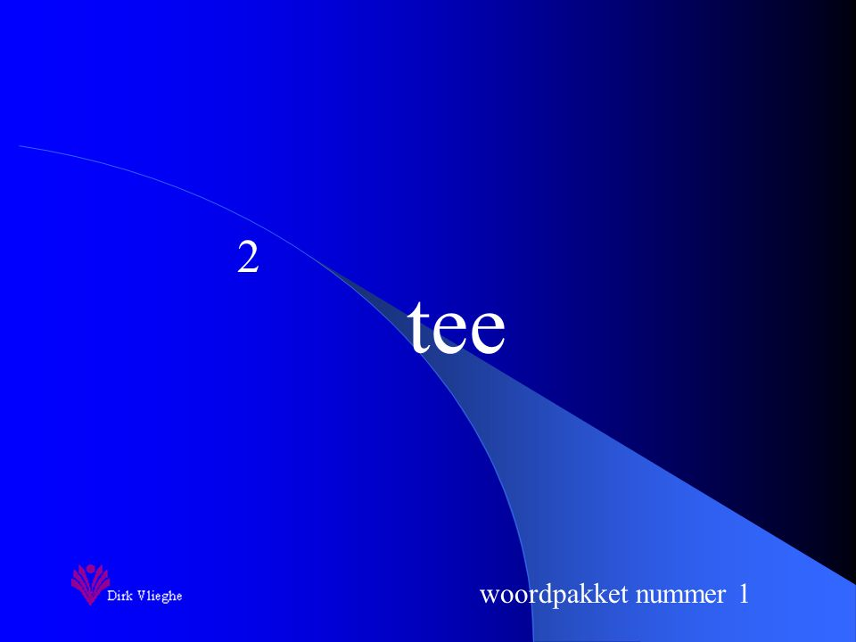 woordpakket nummer 1 tee 2