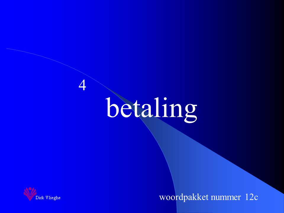 woordpakket nummer 12c betaling 4