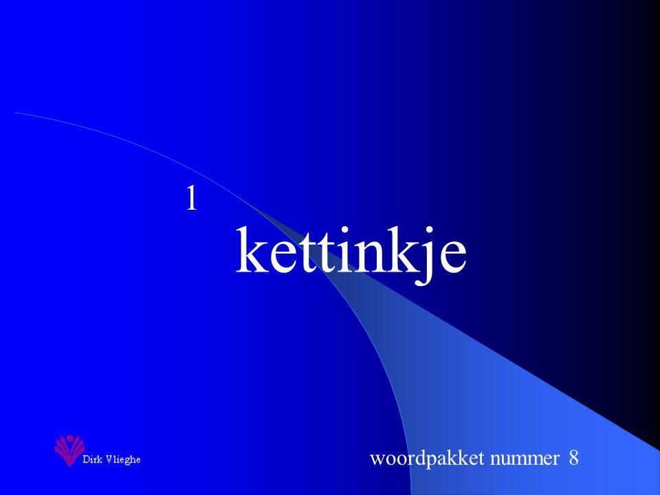 woordpakket nummer 8 Je zorgt voor een vulpen en een groene balpen. Je ziet de woorden van het woordpakket gedurende 3 seconden. Je hebt 10 seconden o