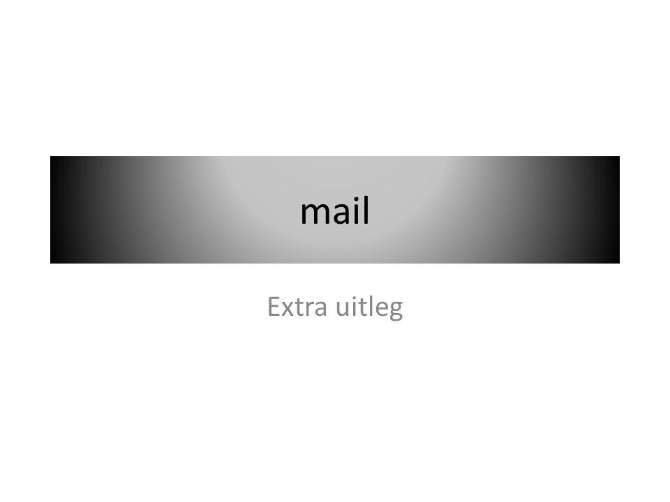 aan In het filmpje zag je waar aan stond een e-mail adres word gezet dat e-mail adres bepaalt naar wie het word gestuurd
