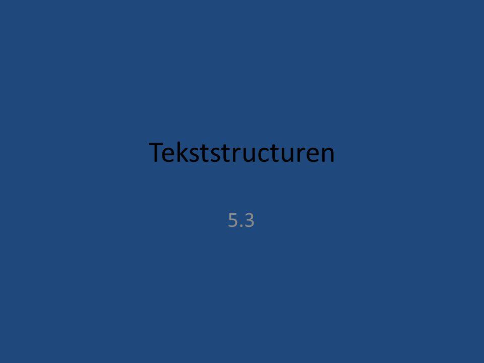 Tekststructuren 5.3
