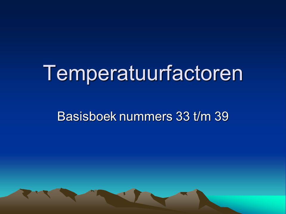 Temperatuurfactoren Basisboek nummers 33 t/m 39