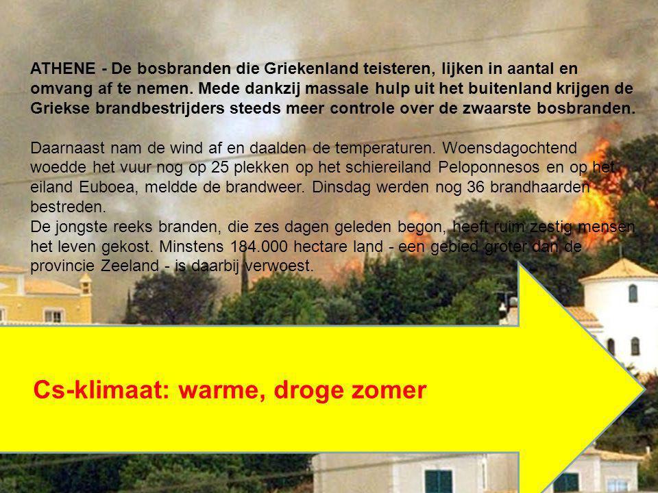 Deelvragen: -Beschrijf de kenmerken (temperatuur, wind en neerslag) van het Mediterraan klimaat.