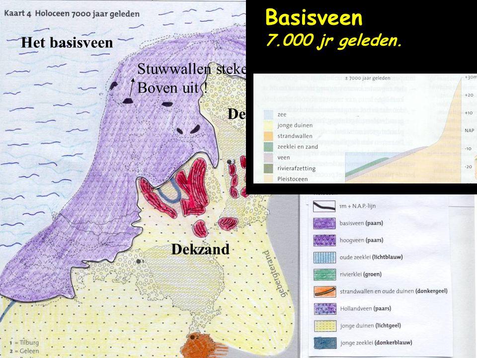 Het basisveen Stuwwallen steken er Boven uit ! Dekzand Basisveen 7.000 jr geleden.
