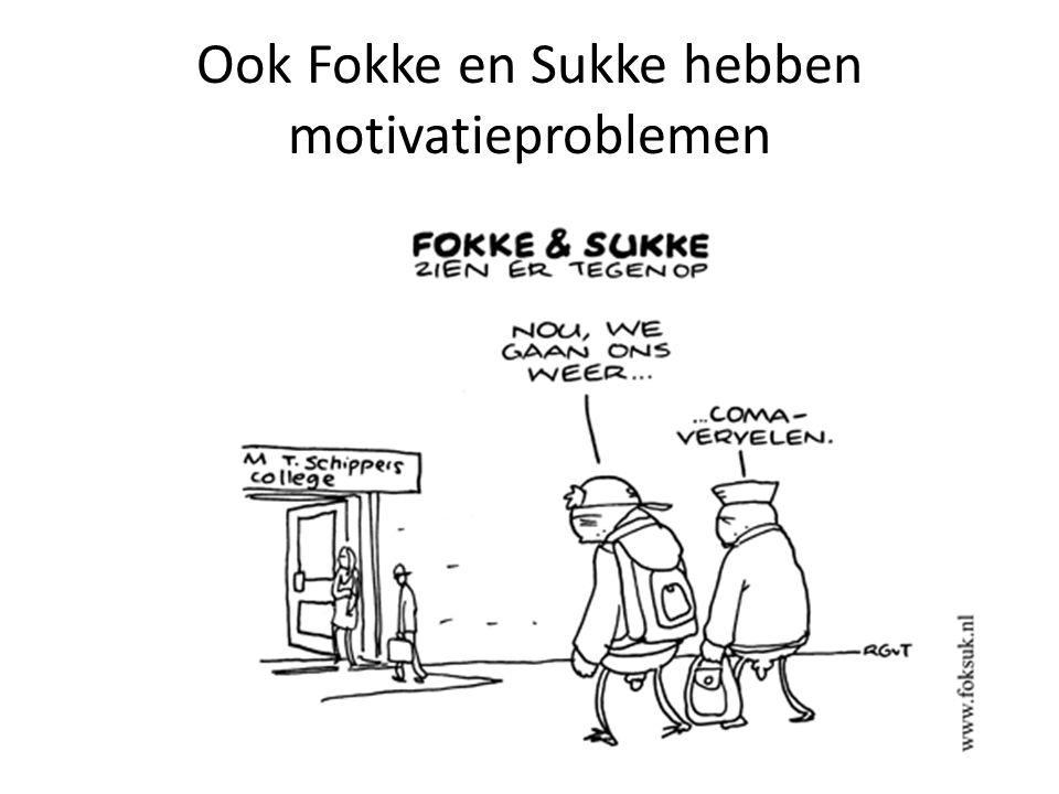 Ook Fokke en Sukke hebben motivatieproblemen