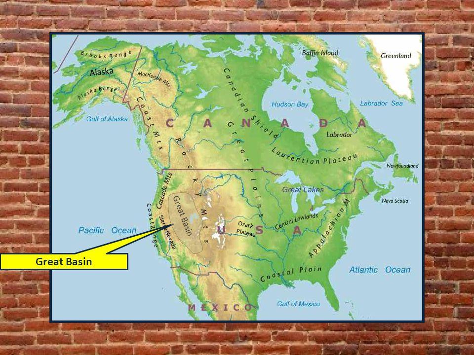 C o a s t R a n g e Ozark Plateau Alaska Great Basin