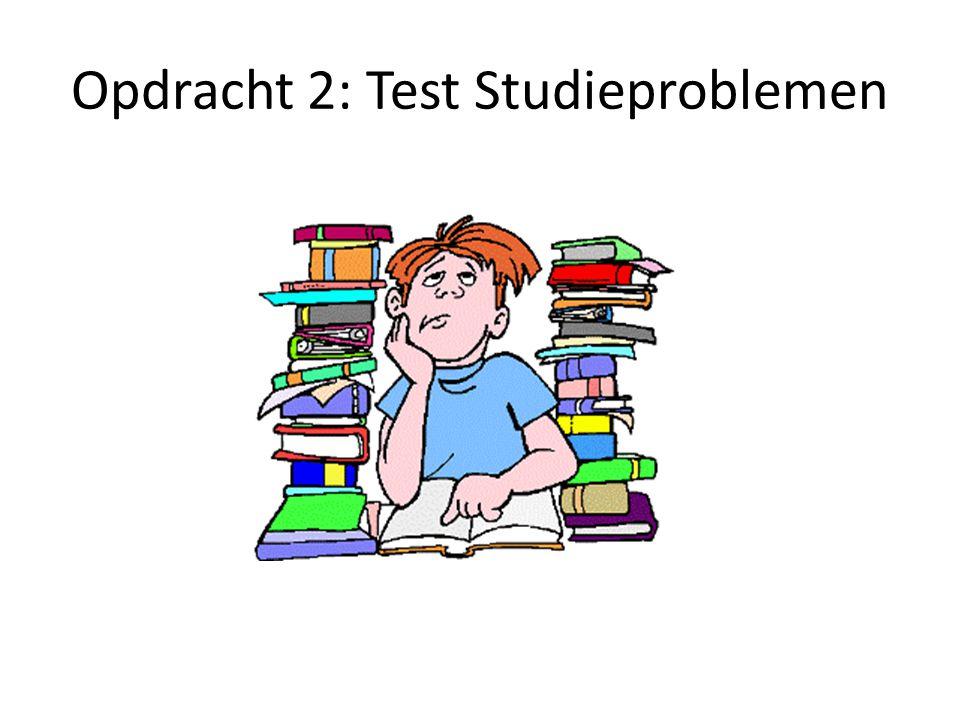 Opdracht 2: Test Studieproblemen