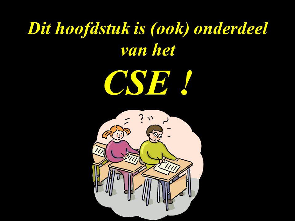 Dit hoofdstuk is (ook) onderdeel van het CSE !