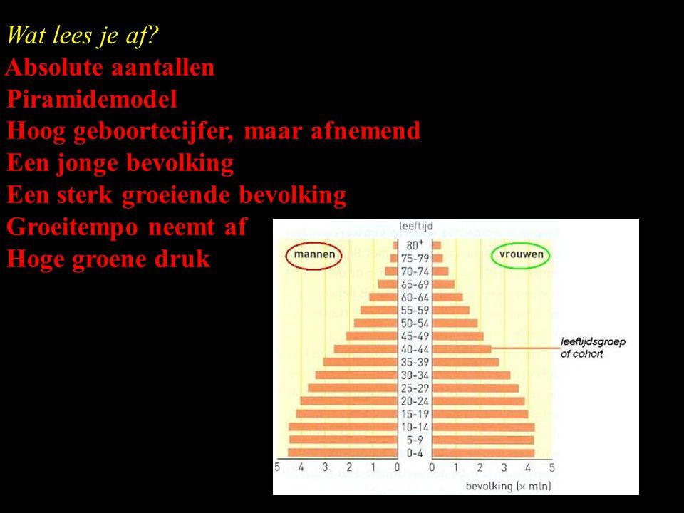 Leeftijdsdiagram of bevolkingspiramide? Een grafische weergave van de verdeling van de bevolking naar geslacht en leeftijd waarbij leeftijd op de vert