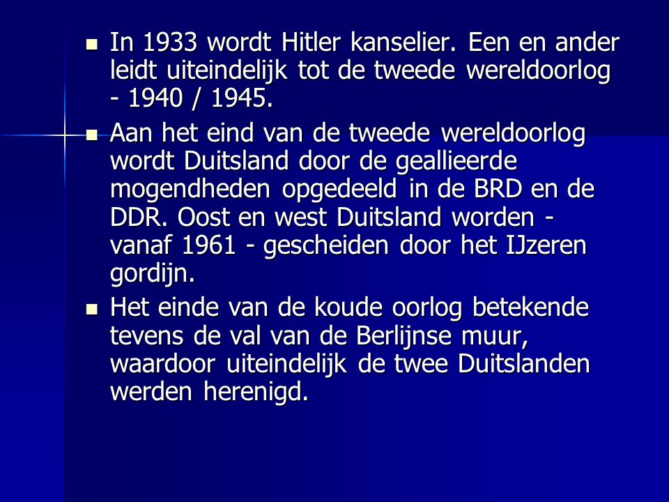 In 1933 wordt Hitler kanselier.