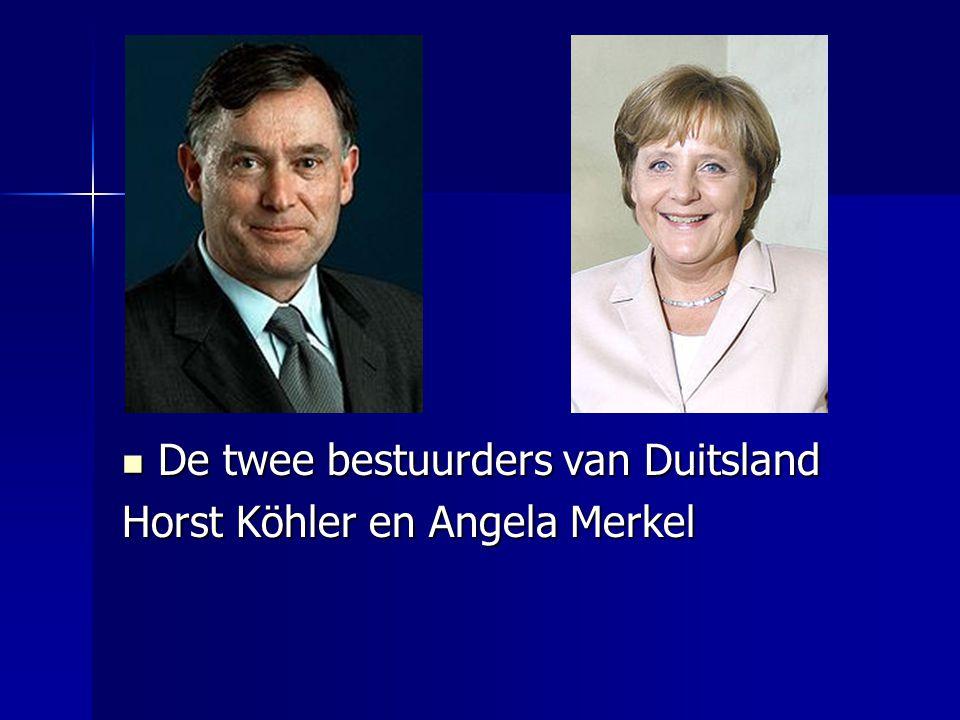 De twee bestuurders van Duitsland De twee bestuurders van Duitsland Horst Köhler en Angela Merkel