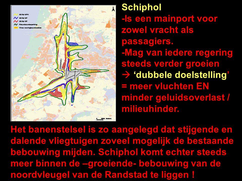 Schiphol -Is een mainport voor zowel vracht als passagiers.