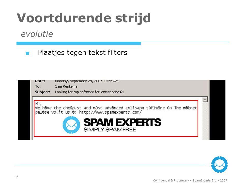 Confidential & Proprietary – SpamExperts B.V.
