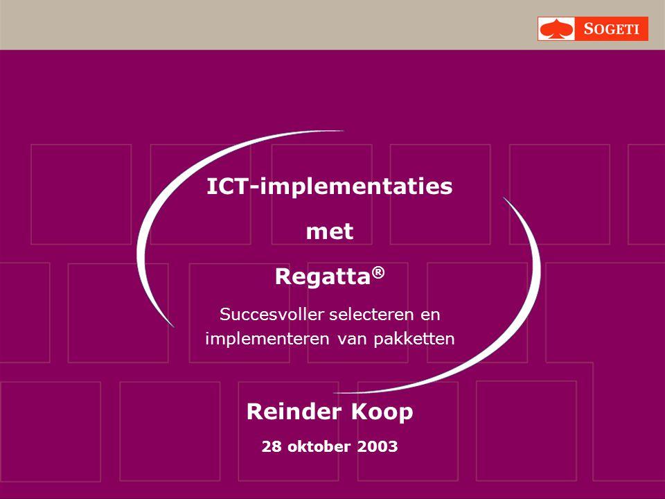 Denk aan… ICT Proces Mens Informatie Middelen Sturing Organisatie Doel SNELHEID & RENDEMENT door SAMENHANG & BALANS Resultaat