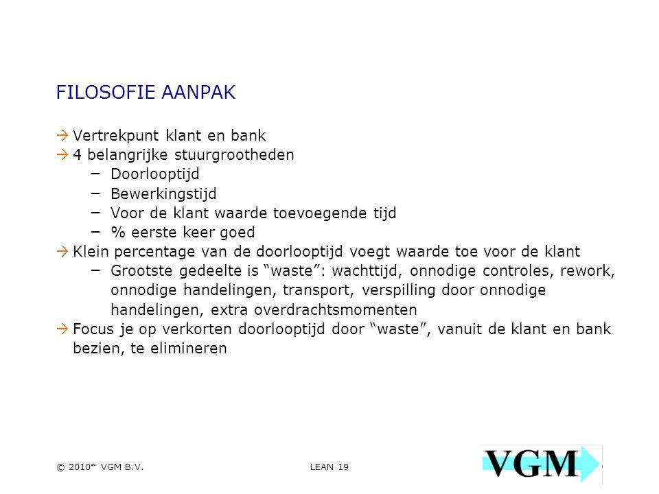 LEAN 19 19 © 2010* VGM B.V.