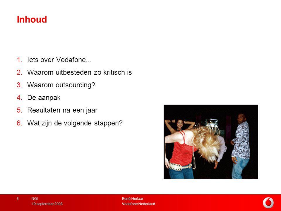 René Herlaar Vodafone Nederland10 september 2008 NGI3 Inhoud 1.Iets over Vodafone...
